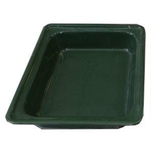 "CERAMIC CASSEROLE PAN HALF SIZE X 2.5""D GREEN"