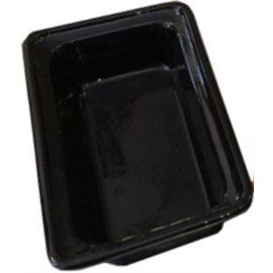 """CERAMIC CASSEROLE PAN 1 / 3 SIZE X 2.5""""D NOIR"""