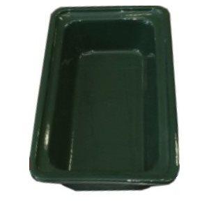 "CERAMIC CASSEROLE PAN 1 / 3 SIZE X 2.5""D GREEN"