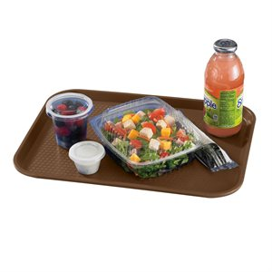 "FAST FOOD TRAY 10""X14"" BROWN"
