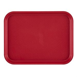 "FAST FOOD TRAY 10""X14"" CRANBERRY"