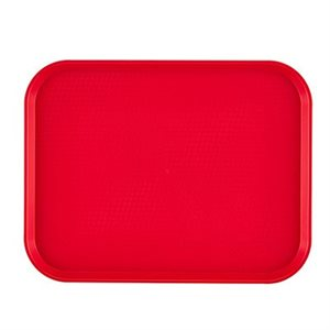 "FAST FOOD TRAY 10""X14"" RED"