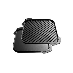 "LODGE GRIDDLE REVERSIBLE 10.5"" X 10.5"""