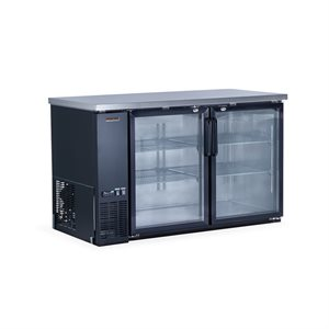 "NEW AIR BACK BAR BEER FRIDGE GLASS DOORS 59""X27""X36"""