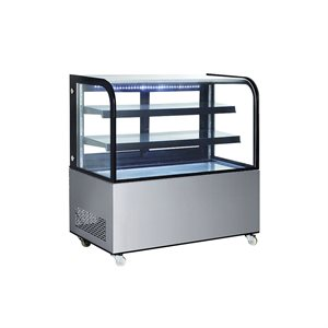 """NEW AIR CURVED GLASS REFRIGERATED DISPLAY CASE 48""""X27""""X48"""""""