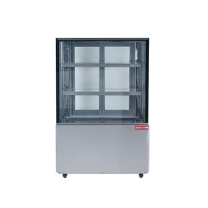 """NEW AIR SQUARE GLASS REFRIGERATED DISPLAY CASE 35""""X29""""X54"""""""