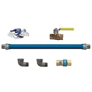 "GAS CONNECTOR KIT W / QUICK-DISCONNECT 3 / 4""X48"""