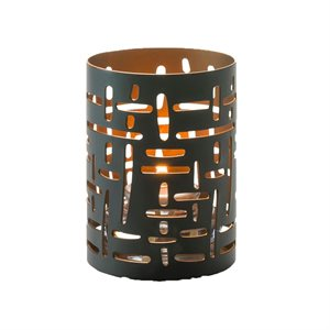 DATA VOTIVE BLACK AND GOLD
