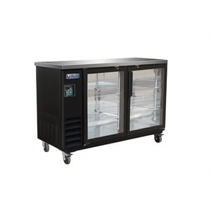"IKON BEER COOLER 2 GLASS DOORS 61""W"