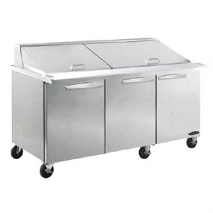 "KOOL-IT SALAD PREP TABLE 72"" MEGA-TOP"