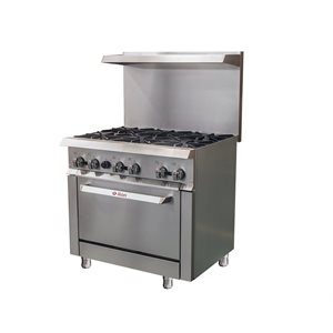 "IKON RANGE 36"" 6-BURNER NATURAL GAS"