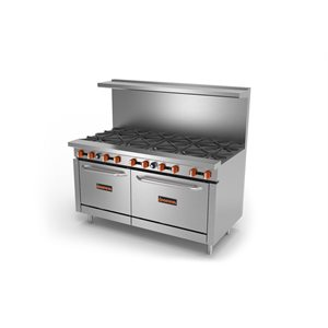 "SIERRA GAS RANGE 60"" 10 BURNERS W / OVEN"