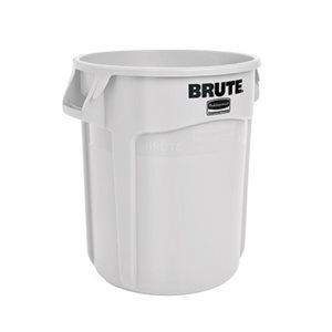 BRUTE GARBAGE BIN 10 GALLON WHITE