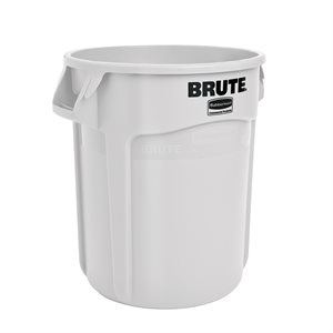 BRUTE GARBAGE BIN 20 GALLON WHITE
