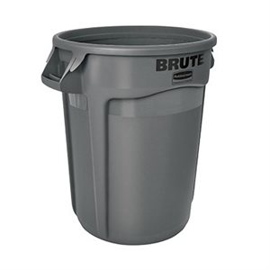 BRUTE 32 GALLON GARBAGE BIN GREY