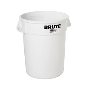 BRUTE GARBAGE BIN 44 GALLON WHITE