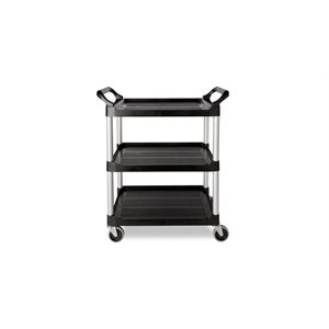 "PLASTIC CART 16""x32"" BLACK"