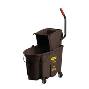 MOP BUCKET AND WRINGER BROWN 35 QT SIDE PRESS