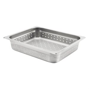 "INSERT PAN 1 / 2 SIZE X 2-1 / 2"" DEEP PERFORATED S / S"