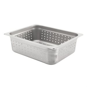 "INSERT PAN 1 / 2 SIZE X 4"" DEEP PERFORATED S / S"