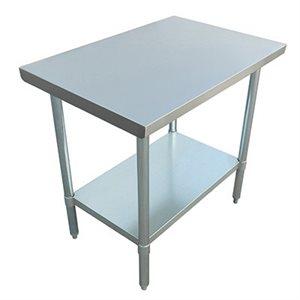 "S / S WORK TABLE 24""x36"" W / GALVANIZED UNDERSHELF AND LEGS"