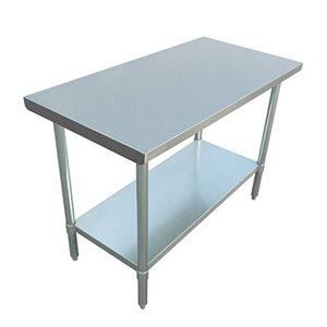 "S / S WORK TABLE 24""x48"" W / GALVANIZED UNDERSHELF AND LEGS"