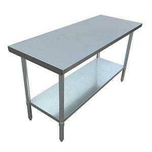 "S / S WORK TABLE 30""x60"" W / GALVANIZED UNDERSHELF AND LEGS"