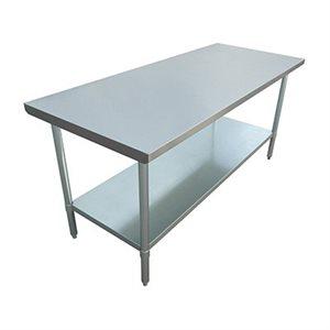 "S / S WORK TABLE 30""x72"" W / GALVANIZED UNDERSHELF AND LEGS"