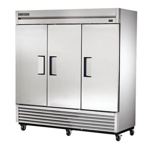 TRUE 3 DOOR REFRIGERATOR REACH-IN S / S DOORS, 78""