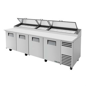 "TRUE PIZZA FRIDGE 119"", 4 DOORS S / S, 15 PANS"