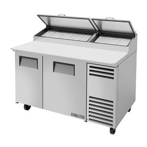 "TRUE PIZZA FRIDGE 60"", 2 DOORS S / S, 8 PANS"