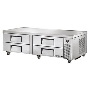 "TRUE CHEF BASE 72"" 110V WITH S / S DRAWERS"