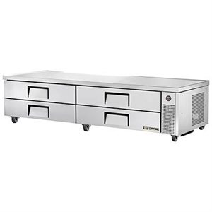 "TRUE CHEF BASE 96"" 110V WITH S / S DRAWERS"