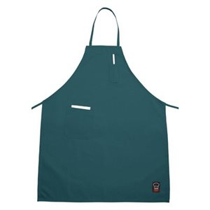"APRON GREEN WITH POCKETS 33""X26"""