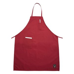 "APRON RED WITH POCKETS 33""X26"""