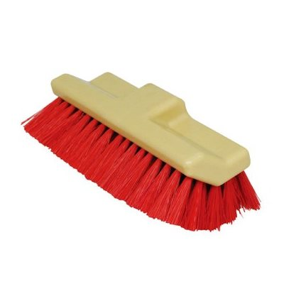 ANGLED DOUBLE-SIDED FLOOR BRUSH RED