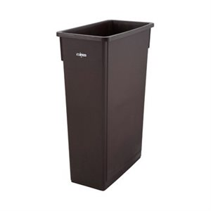 TRASH CAN 23 GAL BROWN