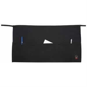 "3 POCKET WAIST APRON BLACK 21-3 / 4""x12-1 / 2"""