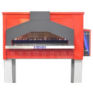 """ZESTO OPEN DECK OVEN WITH BRICK LINING 48""""X33"""" INT. RED"""