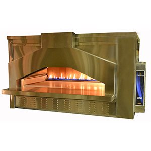 """ZESTO OPEN DECK OVEN WITH BRICK LINING 48""""X33"""" INT."""